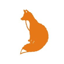 Silhouette Of A Sit Fox