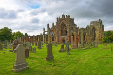 St Mary's Abbey Is Ruined Monastery Of The Cistercian Order In Melrose, Roxburghshire, In The Scottish Borders. Abbey Was Founded In 1136, Scotland