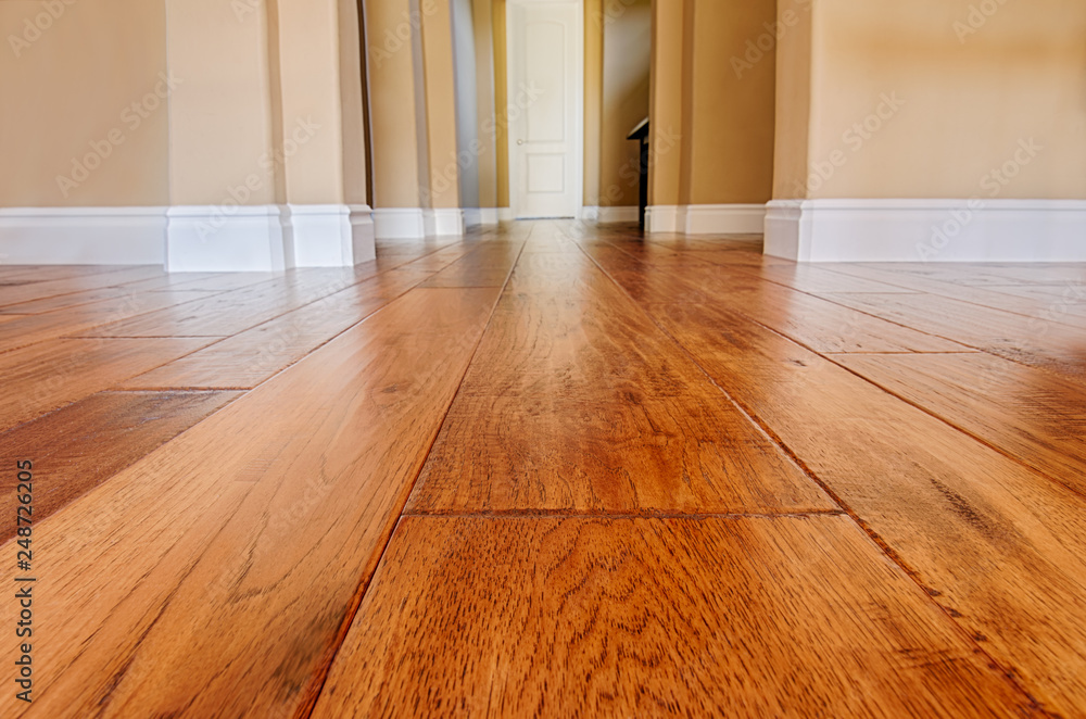 Fototapeta new hardwood floor