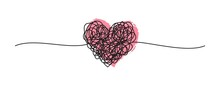 Tangled Grungy Heart Scribble