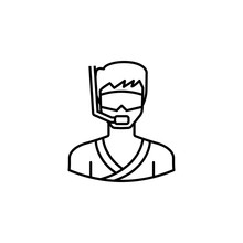 Avatar Snorkeling Outline Icon. Signs And Symbols Can Be Used For Web Logo Mobile App UI UX