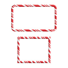 Candy Cane Frame Border For Ch...