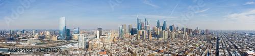 Fotografie, Obraz  Aerial panorama Downtown Philadelphia PA USA