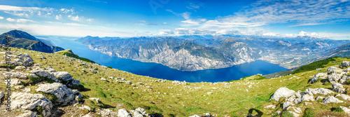 Gardasee Panorama vom Monte altissimo Monte Baldo, Limone, Torbole, Riva del Gar Canvas Print