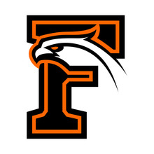 Letter F With Eagle Head. Great For Sports Logotypes And Team Mascots.