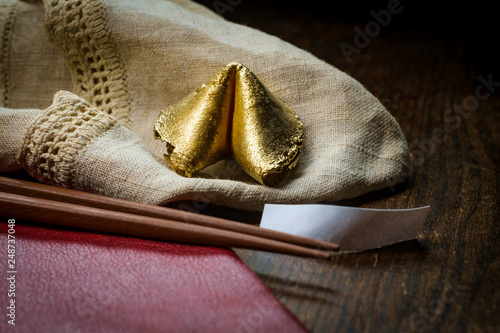 Photographie  Lucky Golden Fortune Cookie