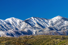 North Side View Of The San Gabriel Mounatins In Southerm California, Taken From The Mojave Desert