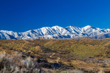 Snow On The Northern Side Of The San Gabriel Mountains In The Angeles National Forset In Southern California