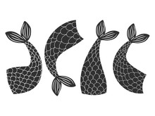 Black And White Vector Fishes,...