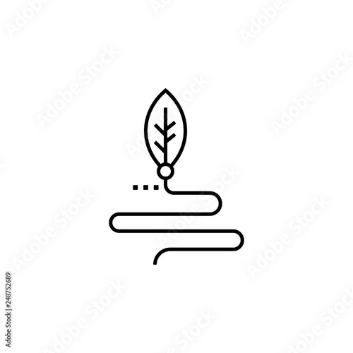 Fotografie, Obraz  agriculture, biology, biomass, leaf icon