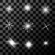 Stars on transparent background in vector