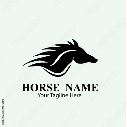 Carta da parati HORSE LOGO DESIGNS CONCEPT