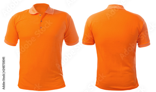Orange Collared Shirt Design Template Canvas-taulu