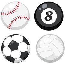 Set Of Different Balls