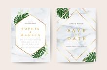 Luxury Marble Wedding Invitati...
