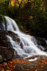 Fototapeta Jesień Laurel Falls in the Fall - Smoky Mountains