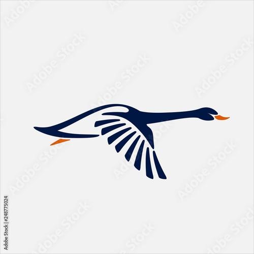 Obraz na plátne Goose vector Logo
