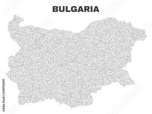 Bulgaria map designed with tiny points Wallpaper Mural