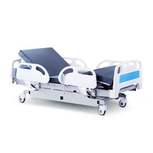 Hospital Bed Stretcher Or Patient Bed Isolated On White Background. Electric Variable Height Bed. Medical Equipment. Four Section Bed. Clipping Pathjpg