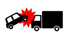 トラックと車の衝突