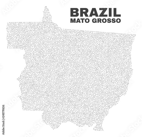 Fotografija  Mato Grosso State map designed with little points