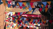 Prayer Flags Over Streets Of K...