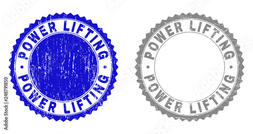 Fotografie, Obraz  Grunge POWER LIFTING stamp seals isolated on a white background
