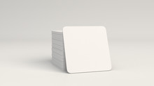 Mockup Of Blank White Square B...