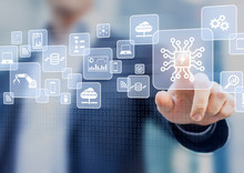 Digital Transformation Change Management, Internet Of Things (IoT), New Technology Data And Business Process Strategy, Automate Operation, Customer Service Management, Cloud Computing, Smart Industry
