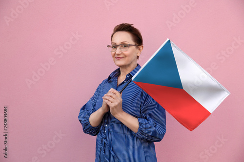 Photo  Czech Republic flag