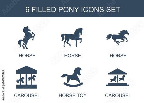 Fototapeta pony icons