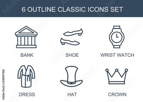 Fototapeta 6 classic icons obraz na płótnie