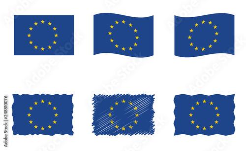 Obraz na plátně European Union flag, vector flag set of EU