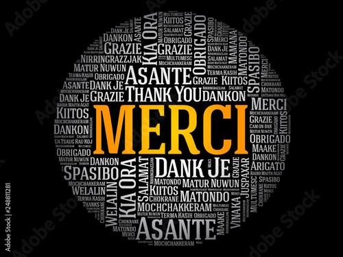 Merci Thank You In French Word Cloud In Different