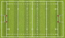 Rugby Pitch With Lines And Goa...