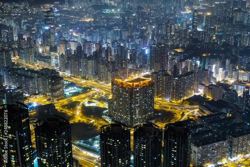 Photo  香港 九龍半島夜景 スカイ100(環球貿易広場)から