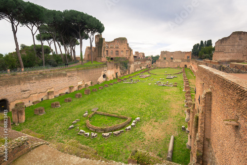 Valokuva  Ruins of the Hippodrome of Domitian in ancient Rome, Italy