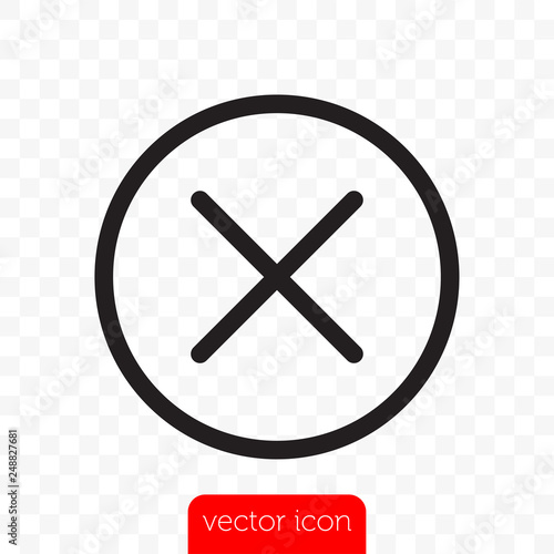 Foto Close button. Vector close icon line X cross in circle