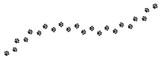 Fototapeta Fototapety na ścianę do pokoju dziecięcego - Paw print trail on white background. Vector cat or dog, pawprint walk line path pattern background