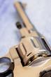 old revolver, close-up