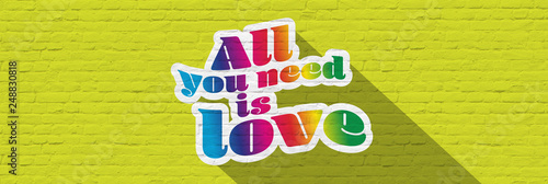 Photo  All you need is love