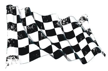 Motor Race Waving Flag Grunge