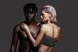 African-American man with dreadlocks posing with girlfriend
