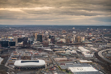 Skyline Of Newark And Harrison...