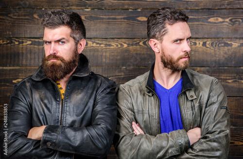 Fotografia, Obraz  Men brutal bearded hipster
