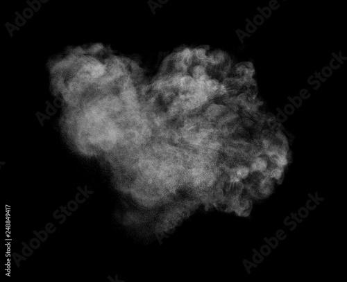 Photo  smoke steam fog powder air background shape black