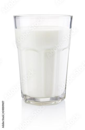 Valokuva Glass of fresh milk isolated on white background