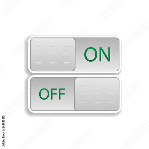 on and off buttons colored sticker icon  Elements of music