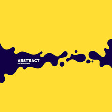 Poster With Dynamic Waves. Vector Illustration In Minimal Style