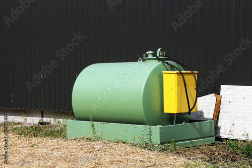 Photo refuelling tank in a farm